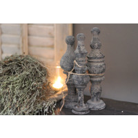 Sobere ornamenten Old grey - 3 stuks