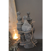 Sobere ornamenten set/3 'Old grey'