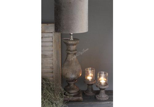Houten baluster lampvoet Casa 50 cm