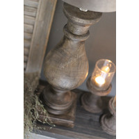 Houten baluster lampvoet 'Casa'|50cm