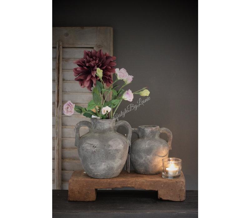 Kruikje grijs beton Trophy 16 cm