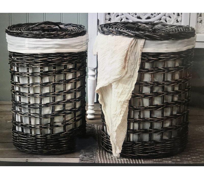 Wasmand open weave Dark nature 50 cm