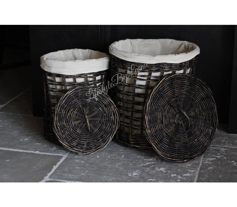 Wasmand open weave Dark nature 50cm