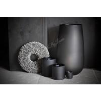 DUTZ groot cilinder windlicht smoke-black 54 cm