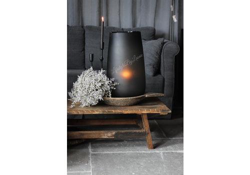 Dutz DUTZ groot cilinder windlicht smoke-black 54 cm