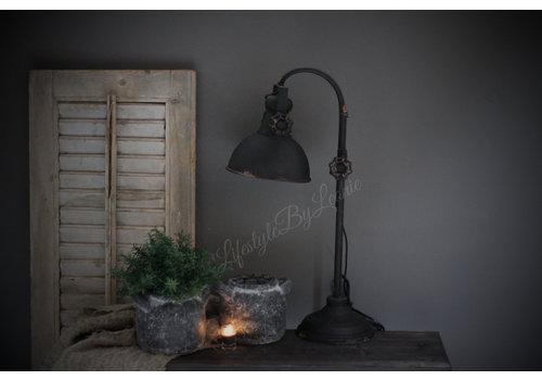 Zwart metalen booglamp Old chiq 53 cm
