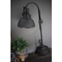 Zwart metalen booglamp old chiq 53cm