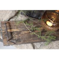 Houten tray met handvaten Old sturdy 40 cm