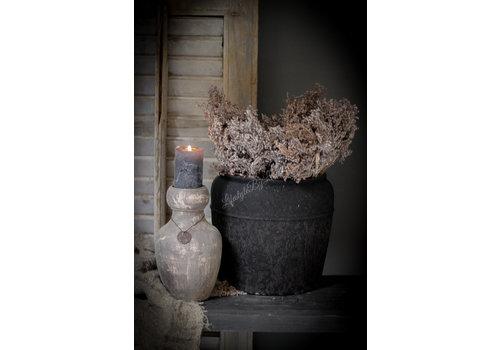 Ronde kruik Toscane zwart 23 cm