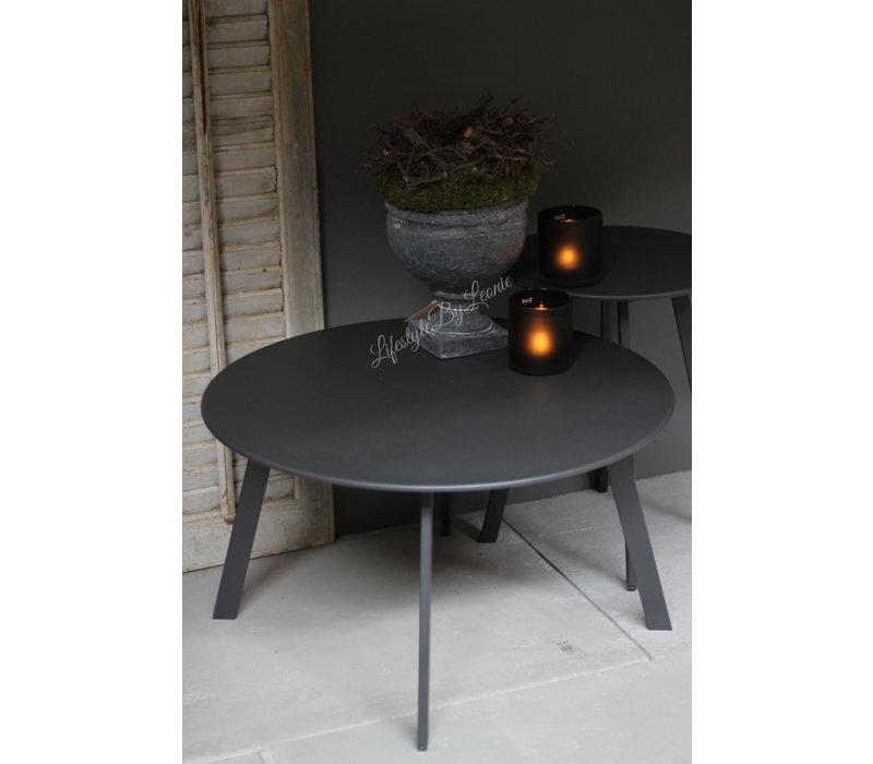 Ronde (buiten) tafel Antraciet 40 cm
