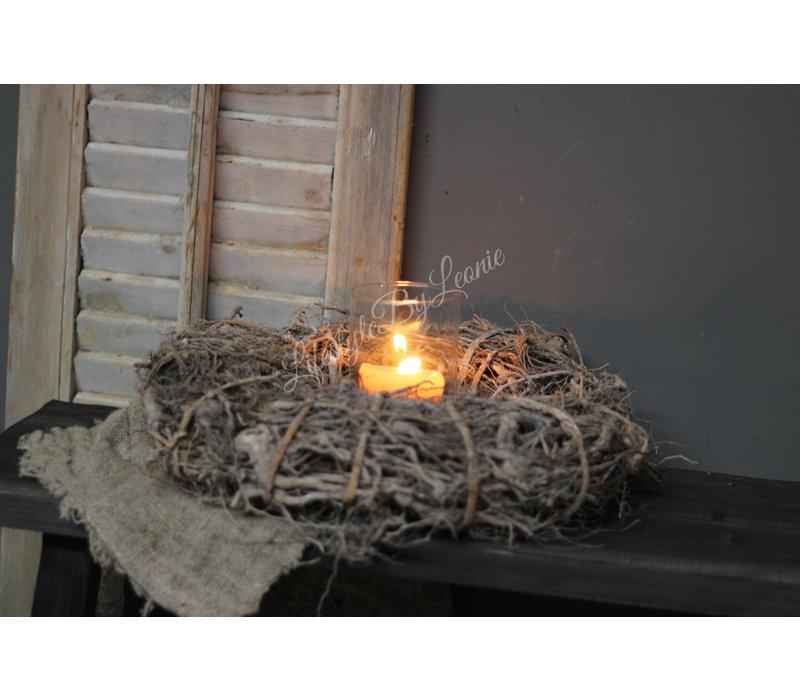 Krans naturel bruin Rough root 40 cm