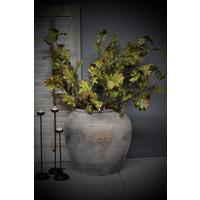 Zijden tak Eikenblad sober green 112 cm