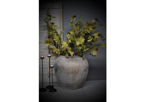 Zijden eikenblad tak Sober green 112 cm