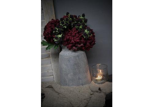 Zijden Chrysant mauve/purple 63 cm