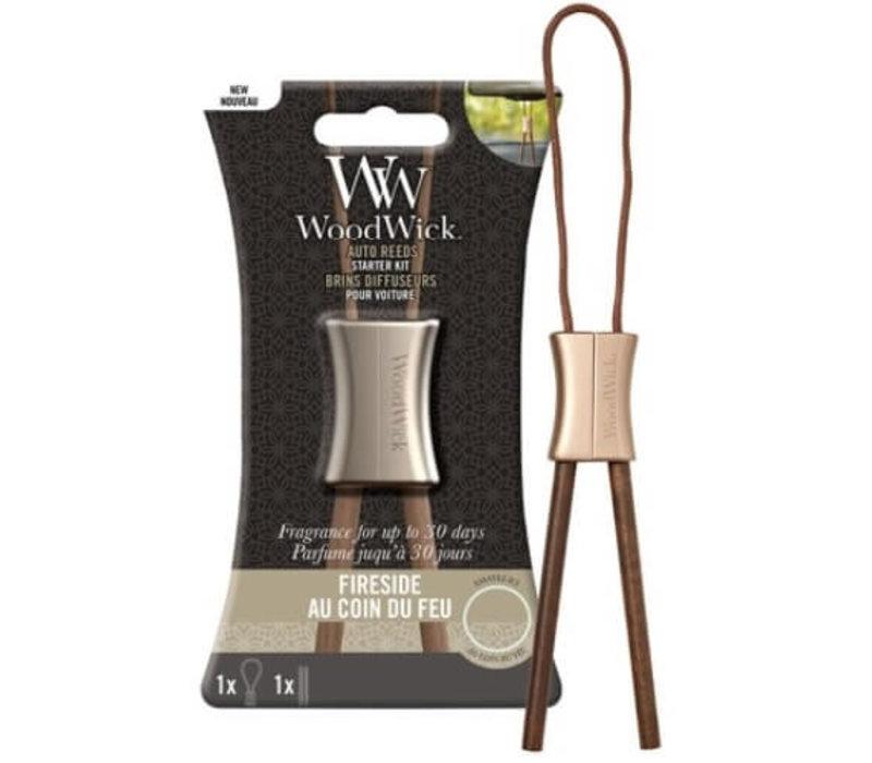 WoodWick Auto Reed Fireside starter kit