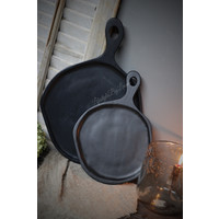 Zwarte snijplank / tray hout 34  cm