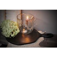 Zwarte snijplank / tray hout 46 cm