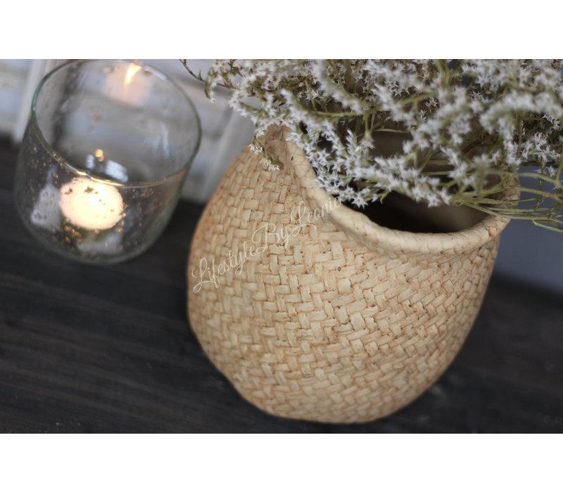 Stenen pot Knit wear beige