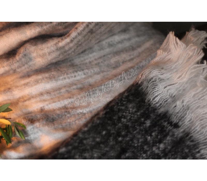 By-boo softy plaid Grijs/Zwart