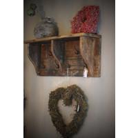 Stoere houten kapstok Old look 90 cm