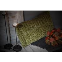 Langwerpig velvet kussen smock Cedar green