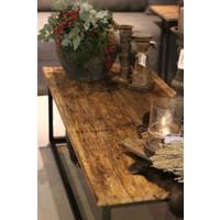 Oude houten railway tafel| 125x55