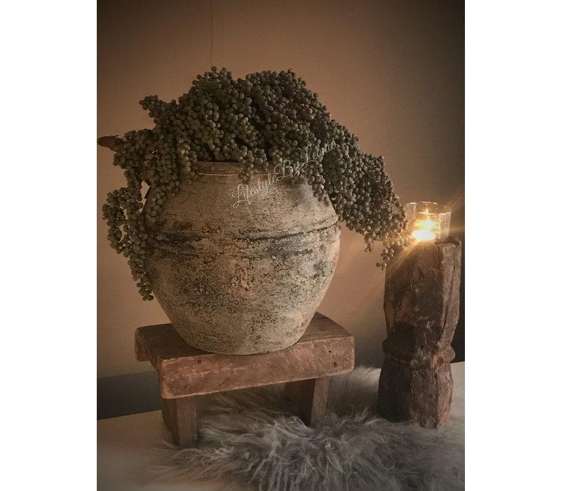 Grote stoere kruik Black earth 35 cm