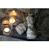 Grijze stenen klos 'Cedric' 17cm