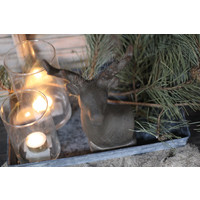 Beeld hertenkop bruin 22 cm