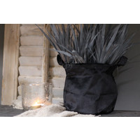 Namaak bosje Grass zwart/grijs 36 cm