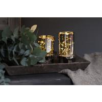 LED lamp met timer Smoke black 15 cm