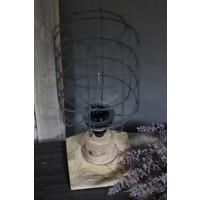 Hout / metalen draad tafellamp 30 cm