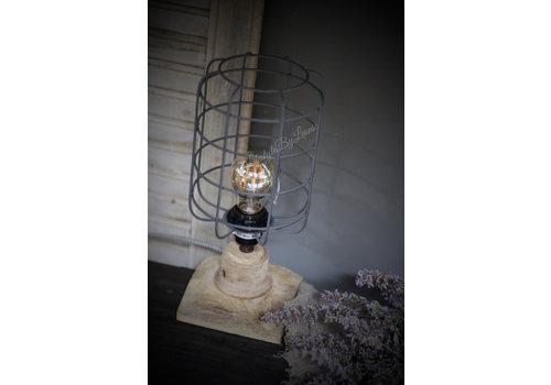 Hout / metalen draad tafel lamp 30cm