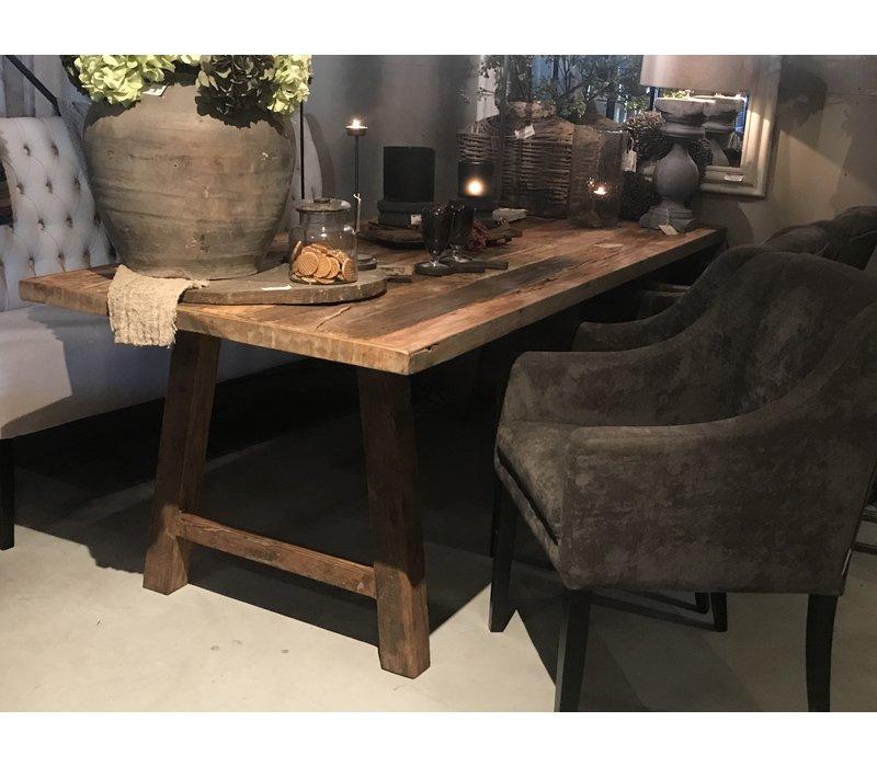 Eettafel oude houten planken 220x90x76H