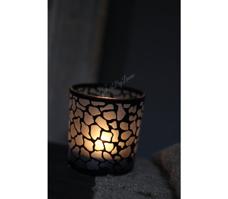 Windlicht safari black 8 cm