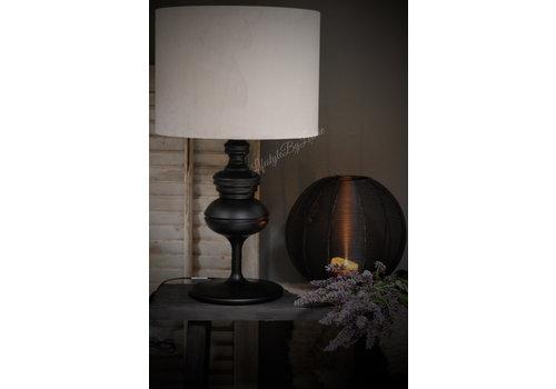 Lampenkap cilinder velvet light grey 32cm