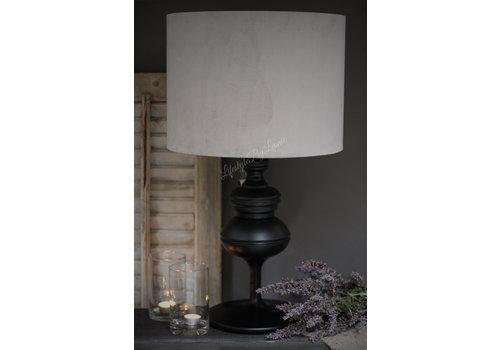 Lampenkap cilinder velvet light grey 40cm