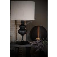 Velvet cilinder lampenkap Light grey 40 cm