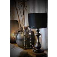 Lampenkap cilinder velvet black 32cm