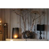 Zwarte sierlijke bol lampvoet 48cm