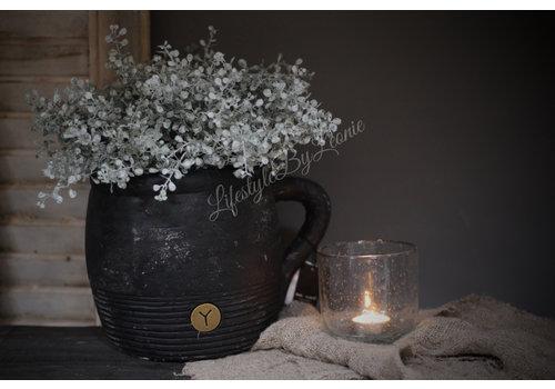 Brynxz Brynxz zwarte stenen pot / kruik 26cm