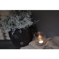 Brynxz zwarte stenen pot / kruik 26 cm