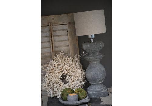 Brynxz stenen baluster lampvoet vintage 38cm