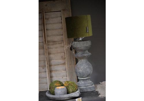 Brynxz stenen baluster lampvoet vintage 30cm