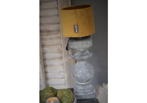 Brynxz Brynxz velvet cilinder lampenkap Okergeel 15 cm