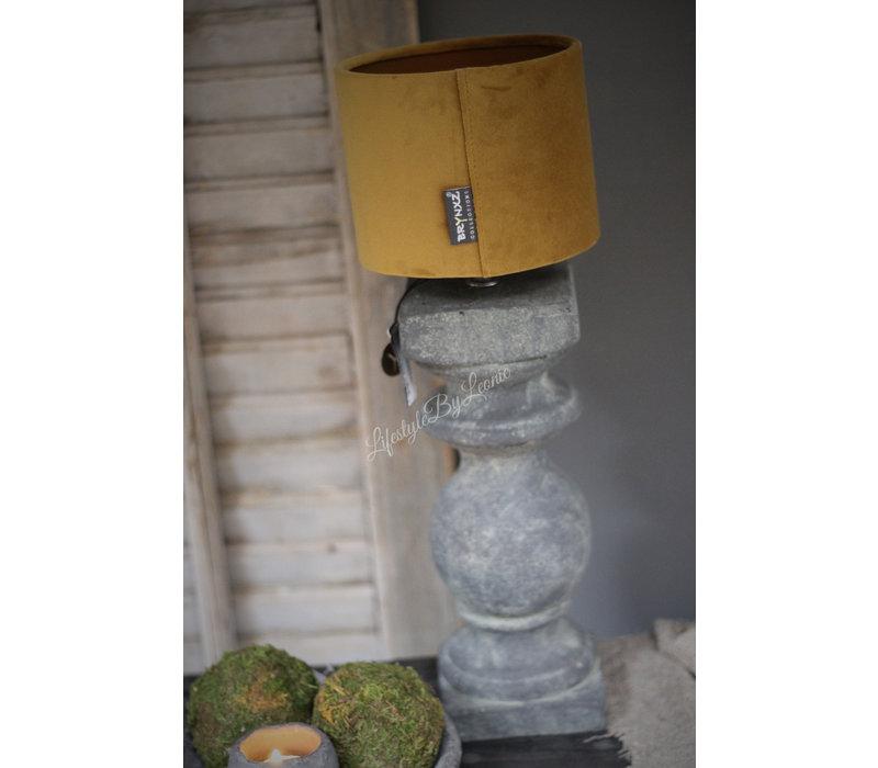Brynxz velvet cilinder lampenkap Okergeel 15 cm