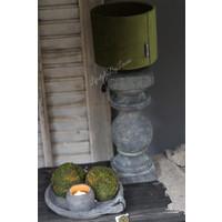 Brynxz velvet cilinder lampenkap Moss green 15 cm