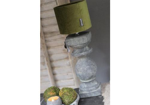 Brynxz Brynxz velvet cilinder lampenkap Moss green 15 cm