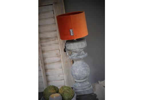 Brynxz Brynxz velvet cilinder lampenkap Cognac 15 cm