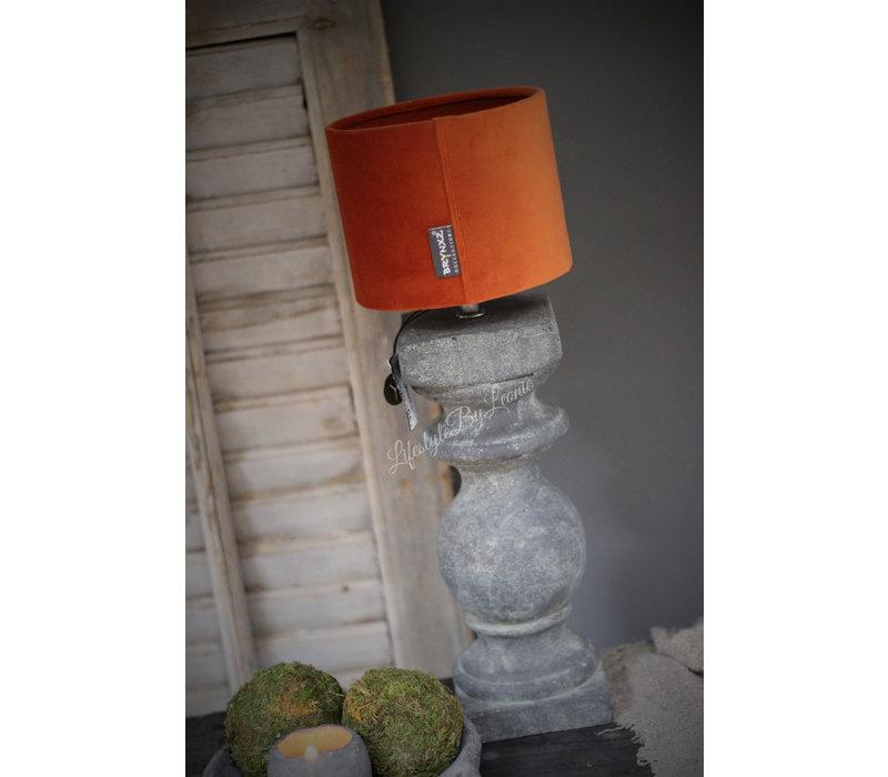 Brynxz velvet cilinder lampenkap Cognac 15 cm